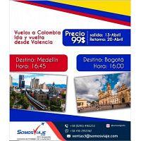 vuelos a colombia ida y vuelta