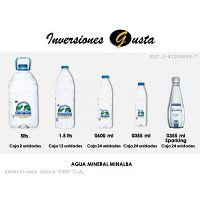 Bebidas agua mineral refresco jugo soda gatorade