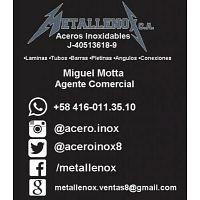Metallenox 04160113510 Miguel Mota Acero Inoxidable Laminas Barras Tubos Pletinas Angulos Accesorios